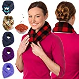 Microwave Heating Pad For Neck & Shoulders - Flax Seed Hot Packs For Pain - Bean Bag Heating Pad Microwavable - Hot Compresses For The Body Therapy - Heated Neck Wrap by Sunnybay (Buffalo, Extra Long)