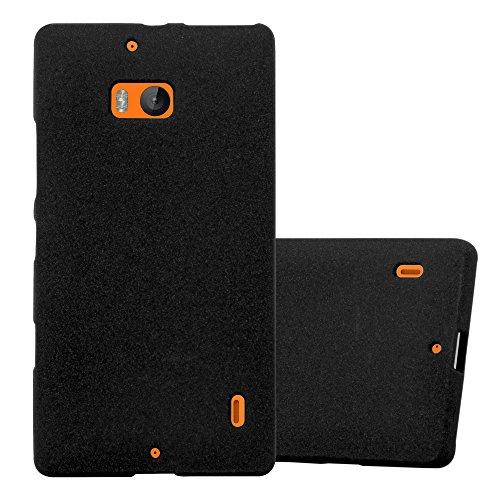 Cadorabo Custodia per Nokia Lumia 929/930 in Frost Nero - Morbida Cover Protettiva Sottile di Silicone TPU con Bordo Protezione - Ultra Slim Case Antiurto Gel Back Bumper Guscio