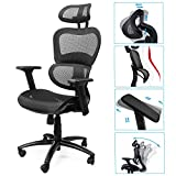 Komene Ergonomic Office Chair Aeron - High Back Lumbar Support Desk Chairs - Comfortable Home Office Ergo 3D Chair - Mesh Computer Drafting Chair, Executive Task Chair, Black