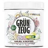 GRÜNZEUG | Das Beste aus über 40 Sorten Obst, Gemüse, Algen und Gräsern | Hochwertiges Superfood mit Vitaminen & Mineralien | DAS ORIGINAL von ProFuel | 300g - ZITRONE & LIMETTE