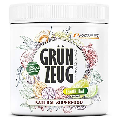 GRÜNZEUG   Das Beste aus über 40 Sorten Obst, Gemüse, Algen und Gräsern   Hochwertiges Superfood mit Vitaminen & Mineralien   DAS ORIGINAL von ProFuel   300g - ZITRONE & LIMETTE