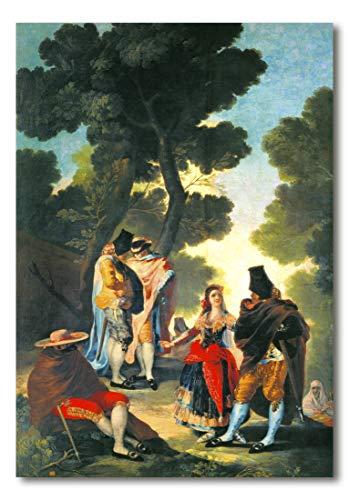 Cuadro Decoratt: El paseo de Andalucia - Francisco de Goya 48x69cm. Cuadro de impresión directa.
