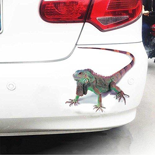 RENCALO Spider lizard 3D Animal Emulation Truck Trailer Room Window Door Car Stickers Decals -Lizard