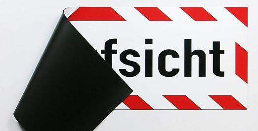 Lohofol Magnetschild Bauaufsicht Schild Magnetisch Lieferbar In Drei Größen 35 X 11 Cm Auto