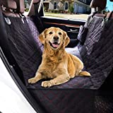 SUPSOO Dog Seat Cover for Back Seat, Waterproof Dog Car Seat Cover with 2 Storage Pockets for Dogs, 600D Heavy Duty Scratch Proof Nonslip Durable Dog Car Hammock for Cars SUVs and Trucks