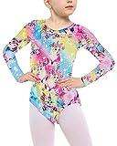 Loveternal Ginnastica Leotard Girl Arcobaleno SirenaCute Pattern Ballet Unitards 4-5 Anni Scintilla Atletica Dance Abbigliamento 110