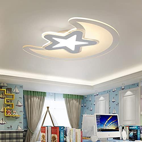 Plafoniera moderna, plafoniere da incasso con lampadario LED dimmerabile, plafoniera in acrilico telecomandata per soggiorno, sala da pranzo, camera da letto, corridoio, Veranda,53CM