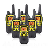 Midland T61VP3 36 Channel FRS Two-Way Radio - Up to 32 Mile Range Walkie Talkie - Yellow/Black (Pack of 6)