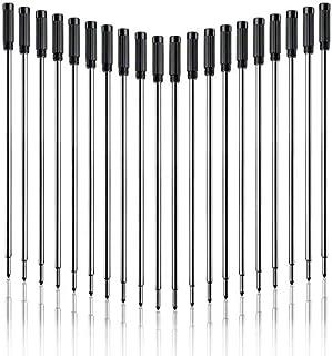 Pack of 20 Pen Point Refill Ballpoint Black Blue Ink 1mm Medium Tips for Parker Ballpoint Pens (Black)
