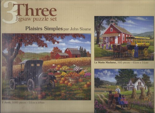 3 Jigsaw Puzzle Set - Simple Pleasures - By John Sloane by Puzzle Makers