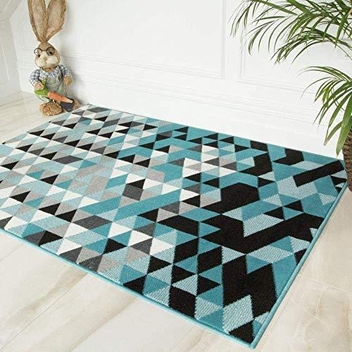 """VHJZeitgenössischer geometrischerblaugrünerblau-Grauer Wohnzimmer-Hausteppich, 160 cm x 230 cm (5'3""""x 7'6"""")"""