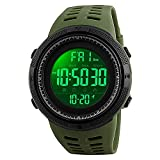 Band Material : Pure Rubber, Color : Black Display Type : Digital / Color : Black Power Black Blue Ring Light Displays Green Movement: Light Power / Clasp: Buckle / Dial Window Material: Fiber digital watches for boys below 500 blue Watches for men's...