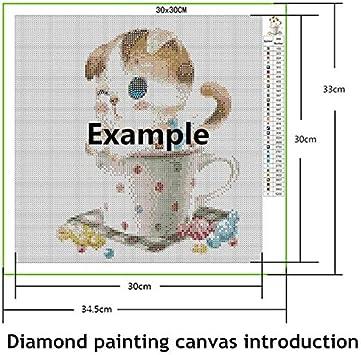 ZZASW DIY 5D Diamond Painting Pintura de Diamante Adultos Tama/ño Grande Lobos de la noche Taladro Completo Estr/ás Bordado Punto Cruz Art/ísticos Mosaico Decor de Pared Qn9108-Diamante redondo,30x60cm