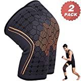 KEAFOLS Knee Support For Men Women, Knee Brace Sleeves, Premium Chinlon Diene Elastic Fiber Antimicrobic Knee...