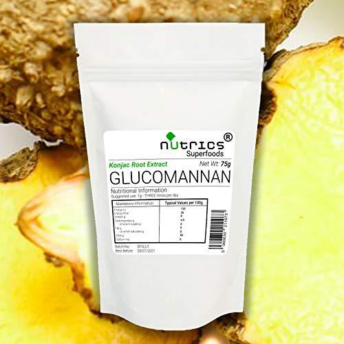 Nutrics® 100% Pure GLUCOMANNAN Konjac Wortel 18:1 95% Extract Poeder 1000g/1KG - Nutrics Superfoods