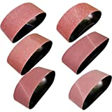 M-jump 18 PCS 3 x 21 inch Aluminum Oxide Sanding Belt Kit-Include 3 Each of 60 80 120 150 240 400...