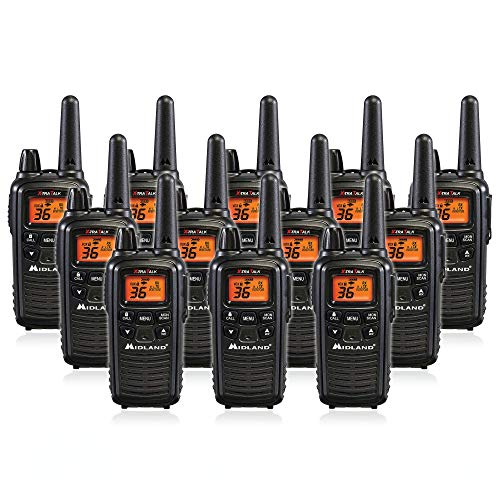 Midland LXT600VP3 36 Channel FRS Two-Way Radio - Up to 30 Mile Range Walkie Talkie - Black (Pack of 12)