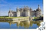 zhangshifa Puzzles 1000 Pieces,Chateau De Chambord Chateau Francia Rompecabezas De Naturales,Juego De Jigsaws Puzzles para Niños Adultos-75 * 50Cm(Puzzle De Pintura)