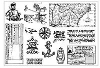 セーラー透明クリアシリコンスタンプ/DIYスクラップブック/フォトアルバム用シール装飾クリアスタンプシートST0841