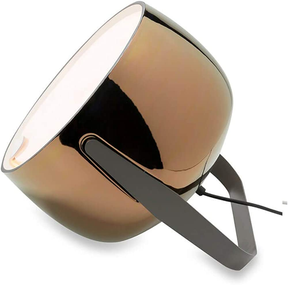 Karman bag, lampada da terra,in ceramica liscia bronzo lucido HP154AR INT