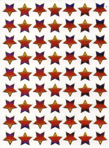 by soljo Etoiles coloré Decal Autocollant de décalque 1 Metallic Glitter Dimensions de la Feuille: 13,5 cm x 10 cm