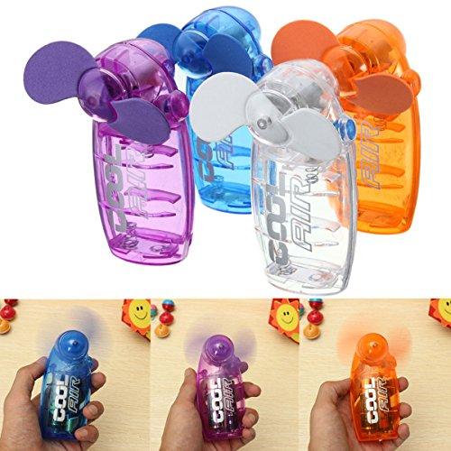 MINBB Ventilador de mano Ventilador de viaje con pilas Ventilador de mano Ventilador personal Mini Ventilador Ventilador Ventilador de mano con pilas Mini Ventilador