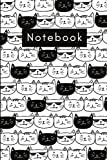 Cats Notebook (Journal, Diary): Print Cat Pattern for notes and thoughts Black and White 6'x9'