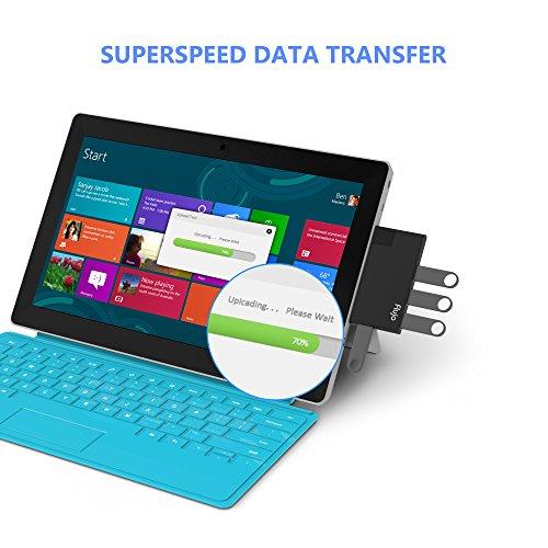 FLUJO『USB3.0ハブ回転式4ポートUSBハブポータブルアダプター』