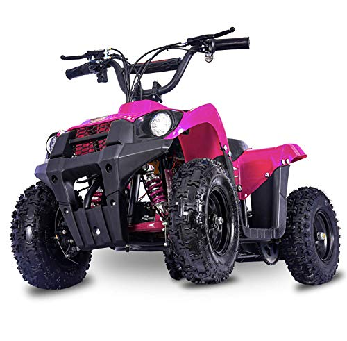 FIT Right Monster 36Volt 500Watt Electric Mini ATV Kids 4 Wheeler Kids Quad Off Road Vehicle with Reverse and Working Headlight. (Pink)