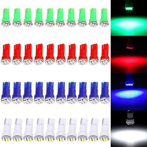 cciyu 40 Pack T5 3-3014-SMD Instrument Dashboard LED Light Bulbs 17 37 73 2721 74 Car