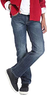 Wrangler Boys' 5 Pocket Dusky Straight Fit Jeans - Dark Blue