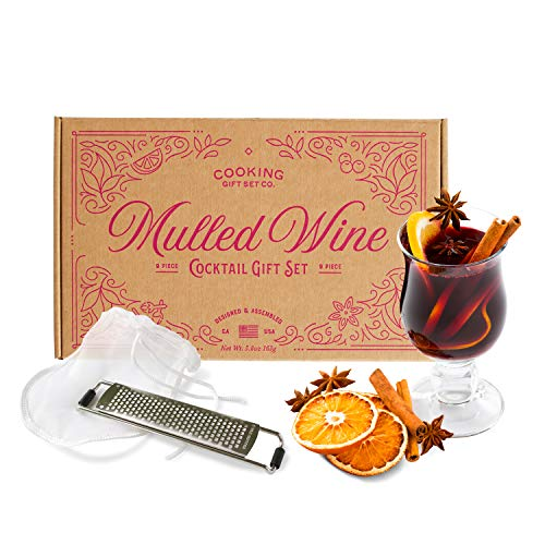 Cooking Gift Set | 9 PC Mulled Wine Cocktail DIY Kit | Wine Gifts for Mom, Friend Gifts, & Wife Gifts (Kraft)