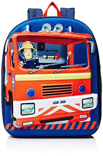OFFICIAL FIREMAN SAM FIRE ENGINE EVA 3D BACKPACK RUCKSACK NURSERY SCHOOL BAG