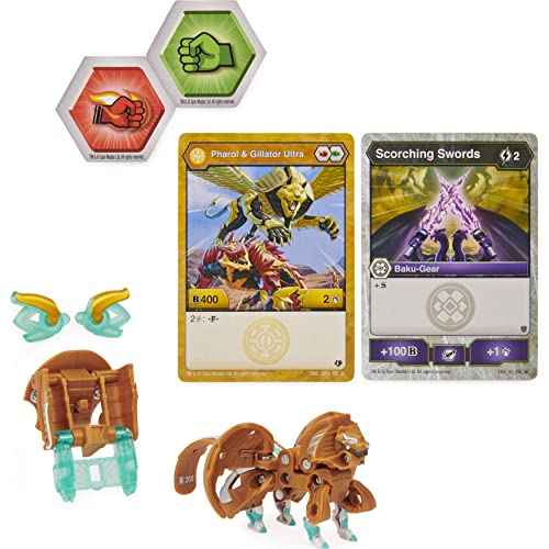 Bakugan Ultra, Fused Pharol x Gillator with Transforming Baku-Gear, Armored Alliance 3-inch Tall Collectible Action Figure