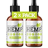 2 x Month Supply Organic Hemp Oil Plus+ Drops   100% Natural & Organic Hemp Seed Oil Drops   Omega 3,6,9   Made in UK   (2 Pack)