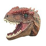 Handpuppe Spielzeug,Weiches Gummi Realistischer Raubvogel-Dinosaurier-Kopf Tyrannosaurus Rex T-Rex Handpuppen Dinosaurier Tyrannosaurus Realistische Gummi Spielzeug Tier Figur Geshenke für Kinder