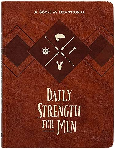 Daily Strength for Men A 365 Day Devotional Faux Leather Inspirational Words of Wisdom for Men product image
