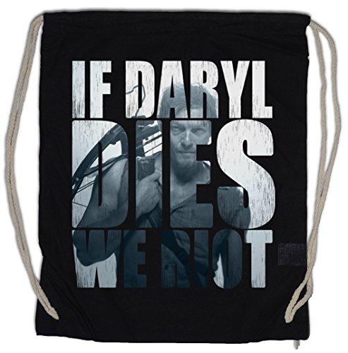 Urban Backwoods If Daryl Dies We Riot Turnbeutel Sporttasche