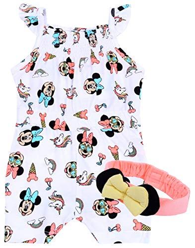 Costume d'été + Bandeau Minnie Disney 12-18 Mois