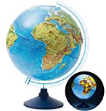 Exerz 25cm Relief Illuminated AR GLOBE Cable Free LED Light/ 3 in 1/ Day and Night - Physical/Political Dual...
