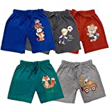 TotzTouch Baby Boy's Regular Shorts (Pack of 5) (TT01 Shorts 5pcs set 1 to 2_Assorted_12-24 Months)