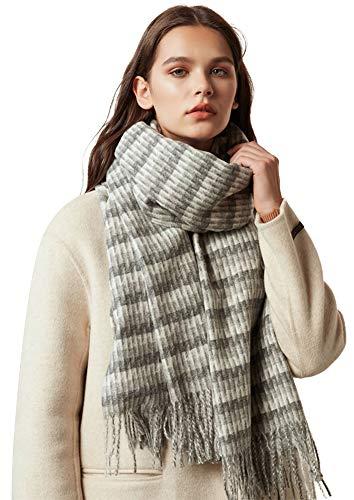 Longwu Invierno 100% lana cachemira bufanda