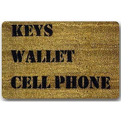 OUSHENGMAOYI kleine badmatten en tapijten op maat het sleutels portemonnee mobiele telefoon huis welkom deurmat tapijt/outdoor matten welkom wasbare deurmat 60X40Cm