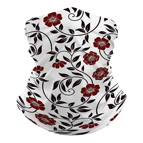 DKE&YMQ Pañuelo multifuncional unisex con patrón de bandana, elástico, transpirable, deportivo, con resistencia a los rayos UV, diseño de artes visuales, patrón pedicel