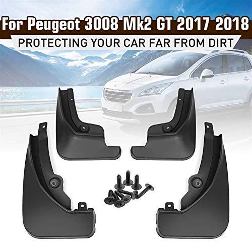 barture Guardabarros del Coche For Peugeot 3008 Mk2 GT 2017 2018 2019 Guardabarros Guardabarros Guardabarros Mudflaps Accesorios del Coche