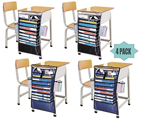 Organizador de carpetas colgantes de 12 bolsillos, ideal para organizar tus tareas, archivos, álbumes de recortes y más (4 paquetes)