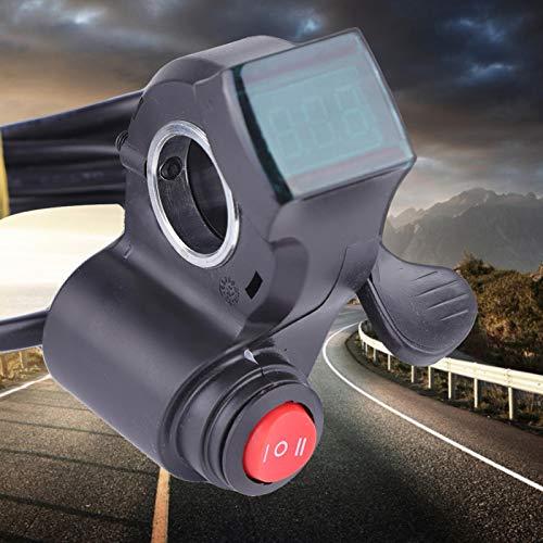 DAUERHAFT Unidad de Control de Bicicleta eléctrica con Pantalla de batería Digital LCD de 12 V a 99 V, para Extensor de Asistencia de Motocicleta del Lado Derecho