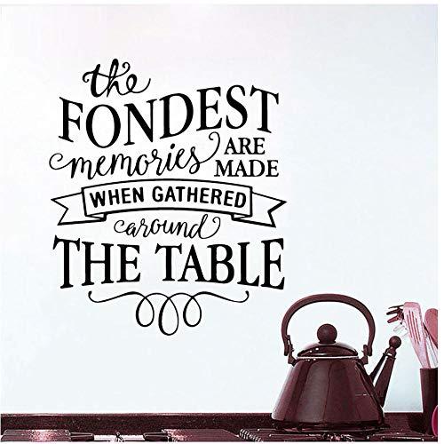 Annqing Muursticker voor de keuken, inspiratie, citaat, verzamel je om tafel, stickers voor woondecoratie, eetkamer, tegels, muurschildering