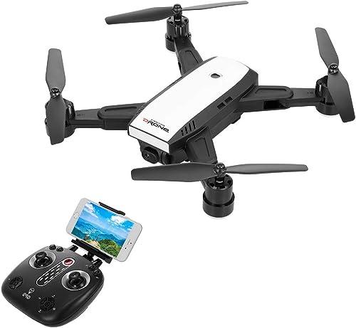 Goolsky LH-X28G Drohne für Anf er, Mini RC-Quadrocopter mit 720P Kamera faltbaren Armen,WiFi FPV EIN-Tasten-Rückkehr H -halten Follow me GPS-Positionierung, einfach zu kontrollieren