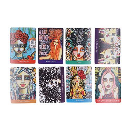 44 Pezzi Mazzo di Carte dei tarocchi, Modelli Diversi Mini Carte dei tarocchi, Carte dei tarocchi Rider Waite, Carte dei tarocchi Versione Inglese Set Carte dell'anima Mazzo dei tarocchi per Adulti